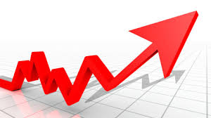 Red Arrow Trending Upward